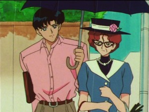 Sailor Moon SuperS episode 142 - Mamoru gets turned down by and older lady