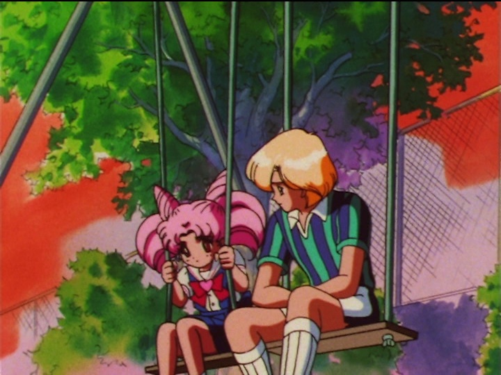 Sailor Moon SuperS episode 143 - Chibiusa and Robert