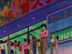 Sailor Moon SuperS episode 143 - Godzilla still in theatres