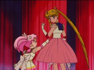 Sailor Moon SuperS episode 145 - Chibiusa calls Usagi fat