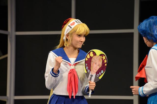 Sailor Moon Un Nouveau Voyage Musical - Minako cheers for Haruka