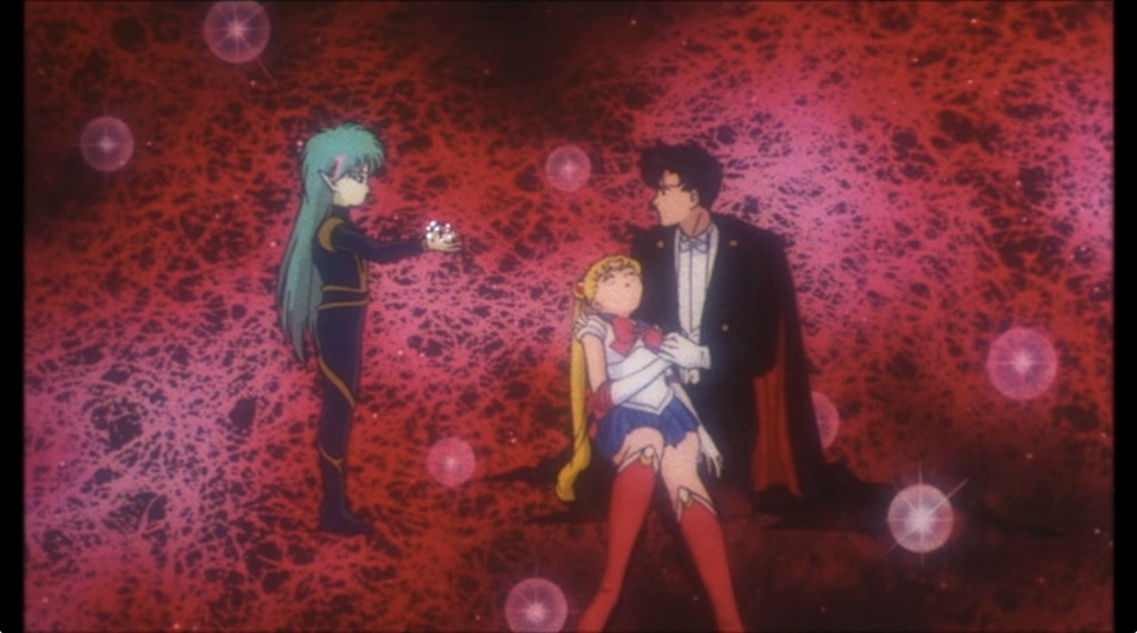 Sailor Moon R The Movie on Netflix Japan - Fiore, Sailor Moon and Tuxedo Mask