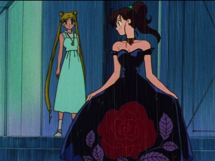 Sailor Moon SuperS episode 147 - Makoto in the rain