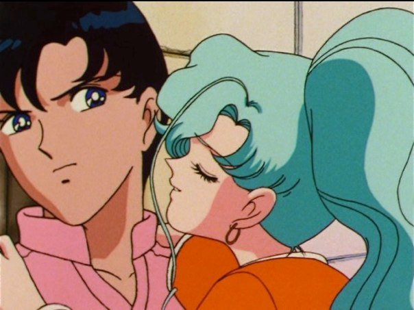 Sailor Moon SuperS episode 148 - Fish Eye kissing Mamoru