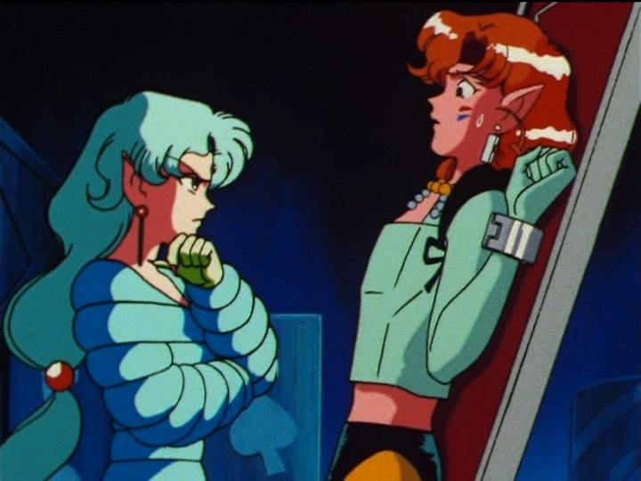 Sailor Moon SuperS episode 148 - Fish Eye looks for Tiger's Eye's Mirror of Dreams