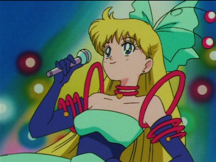 Sailor Moon SuperS episode 154 - Minako in a ridiculous dress