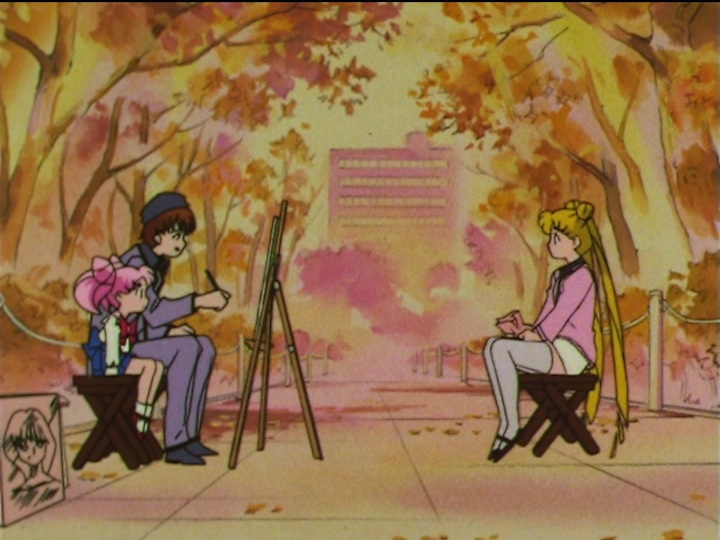 Sailor Moon SuperS episode 156 - Kamoi paints Usagi