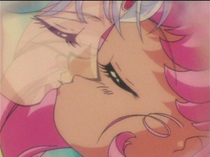 Sailor Moon SuperS episode 158 - Chibiusa kissing Helios