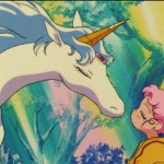 Sailor Moon SuperS episode 158 - Chibiusa kissing Pegasus