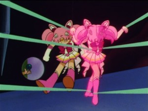 Sailor Moon SuperS episode 163 - Swapping a Sailor Chibi Moon doll for Sailor Chibi Moon