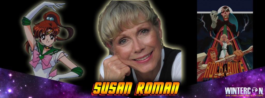 Susan Roman, the voice of Sailor Jupiter, at Wintercon
