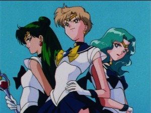 Sailor Moon Sailor Stars episode 167 - Sailor Pluto, Uranus and Neptune