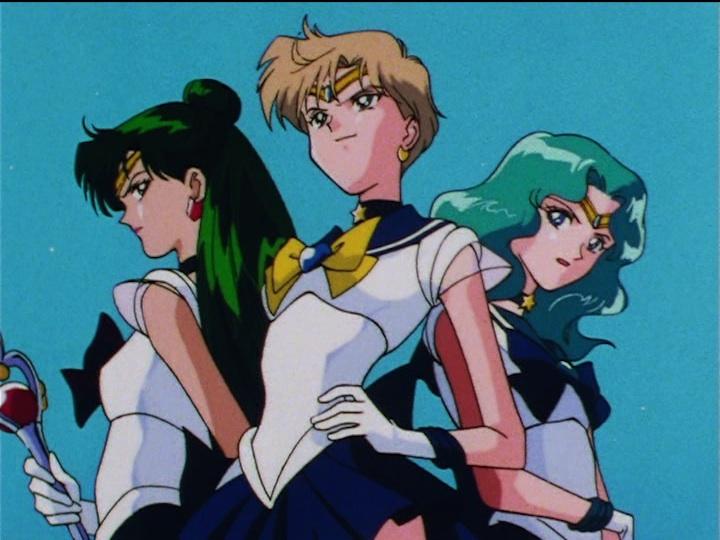 Sailor Moon Sailor Stars episode 167 - Sailor Pluto, Uranus and Neptune