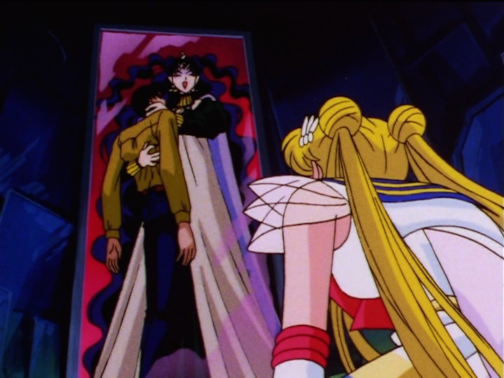 Sailor Moon Sailor Stars episode 169 - Nehelenia steal Mamoru