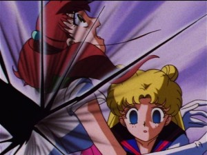 Sailor Moon Sailor Stars episode 171 - Sailor Jupiter protects Usagi