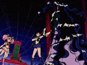 Sailor Moon Sailor Stars episode 171 - Sailor Saturn threatens Nehelenia