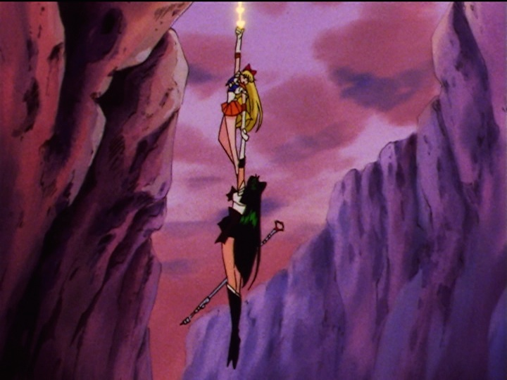 Sailor Moon Sailor Stars episode 171 - Sailor Venus saves Sailor Pluto