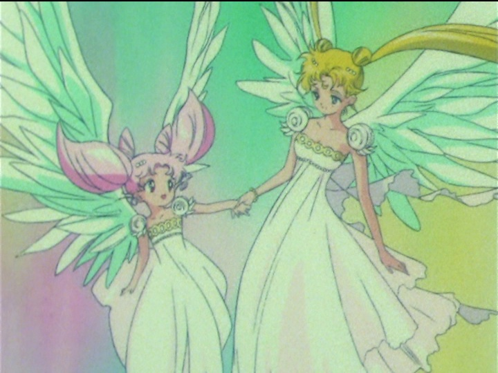 Sailor Moon SuperS episode 166 - Princess Small Lady Serenity and Princess Serenity