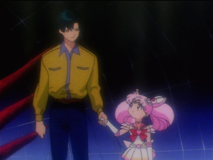 Sailor Moon Sailor Stars episode 172 - Mamoru and Sailor Chibi Moon