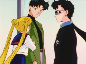 Sailor Moon Sailor Stars episode 173 - Mamoru meets Seiya