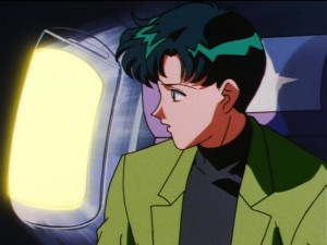 Sailor Moon Sailor Stars episode 173 - Mamoru sees something on the wing