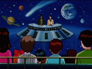 Sailor Moon Sailor Stars episode 177 - Wataru Amanogawa and Taiki talking about space