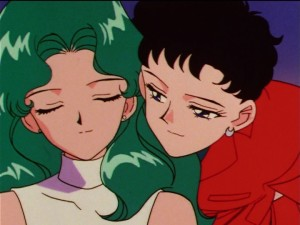 Sailor Moon Sailor Stars episode 180 - Michiru and Seiya
