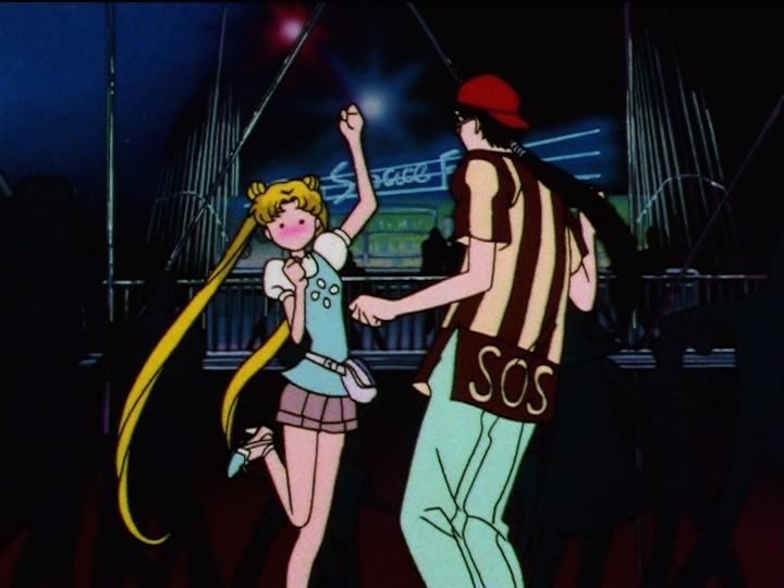 Sailor Moon Sailor Stars episode 181 - Usagi and Seiya dancing