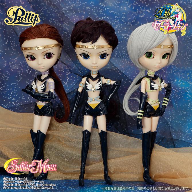 Sailor Star Maker, Fighter and Healer Pullip dolls