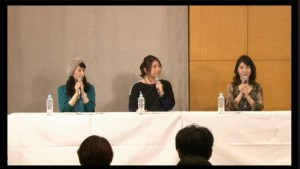 Sayaka Ohara, Sailor Neptune, Junko Minagawa, Sailor Uranus and Kotono Mitsuishi, Sailor Moon