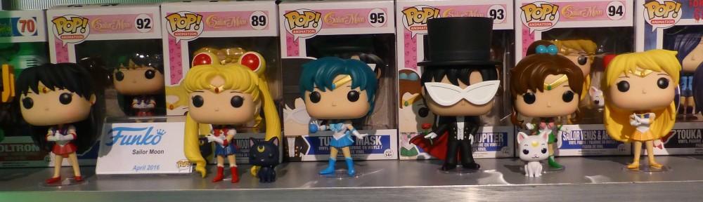 Sailor Moon Funko Pop! Vinyl Sailor Mars, Sailor Moon, Luna, Sailor Mercury, Tuxedo Mask, Artemis, Sailor Jupiter, Sailor Venus