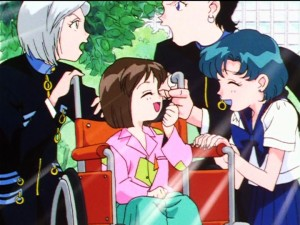 Sailor Moon Sailor Stars episode 185 - Misa recovered and not getting her baby stolen