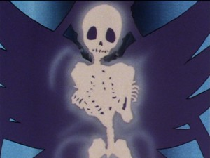 Sailor Moon Sailor Stars episode 185 - Sailor Moon's skeleton