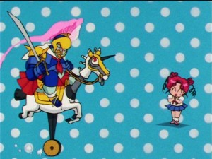 Sailor Moon Sailor Stars episode 186 - Sailor Antique on his horse