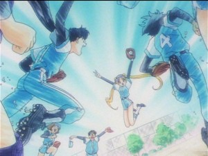Sailor Moon Sailor Stars episode 187 - Usagi and Seiya win a game so they can be friends