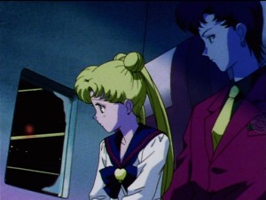 Sailor Moon Sailor Stars episode 188 - Usagi is not in seat 12A