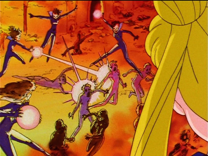 Sailor Moon Sailor Stars episode 190 - The Sailor Starlights planet is destroyed