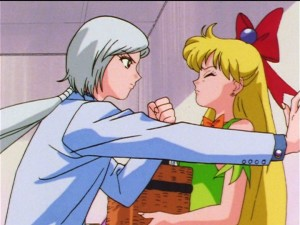 Sailor Moon Sailor Stars episode 192 - Yaten threatens Minako