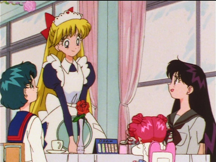 Sailor Moon Sailor Stars episode 193 - Minako dressed as a French maid