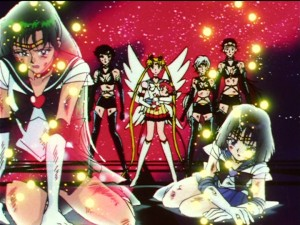 Sailor Moon Sailor Stars episode 197 - Sailor Pluto and Saturn die