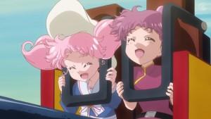 Sailor Moon Crystal Act 27 Part 2 - Chibiusa and Momoko on a ride