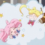 Sailor Moon Crystal Act 27 Part 2 - Chibiusa and Usagi fighting