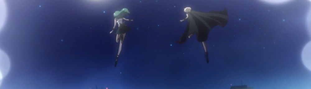 Sailor Moon Crystal Act 27 Part 2 - Sailor Neptune and Uranus fly