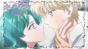 Sailor Moon Crystal Act 28 - Michiru kissing Haruka