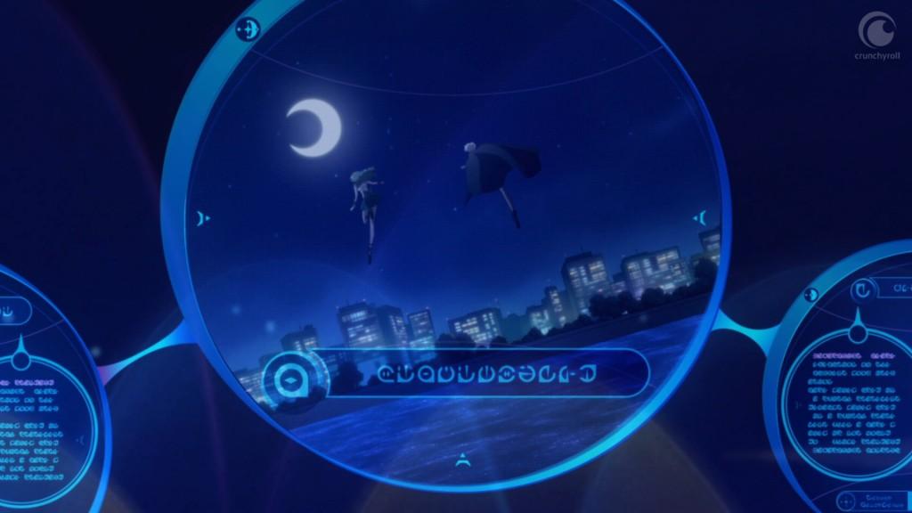 Sailor Moon Crystal Act 28 - Sailor Uranus and Neptune flying