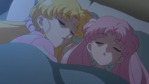 Sailor Moon Crystal Act 28 - Usagi and Chibiusa sleeping