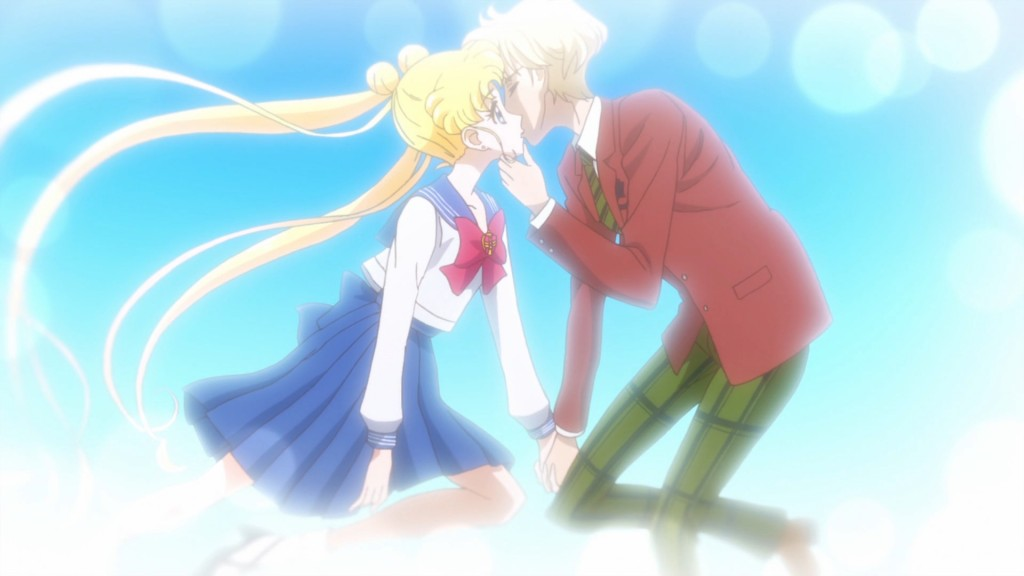 Sailor Moon Crystal Act 29 - Haruka kissing Usagi