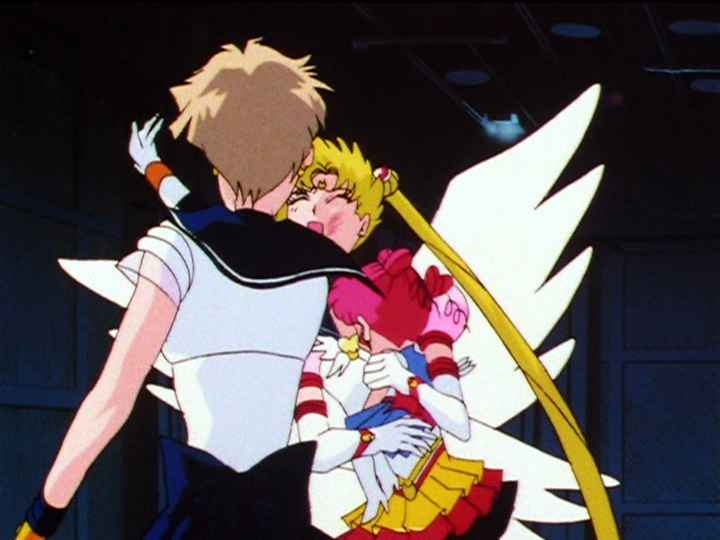 Sailor Moon Sailor Stars episode 198 - Sailor Uranus slaps Sailor Moon