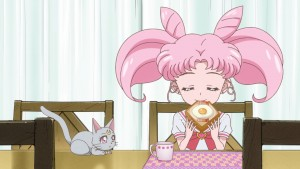 Sailor Moon Crystal Act 32 - Diana and Chibiusa have breakfast thanks to recycled animation