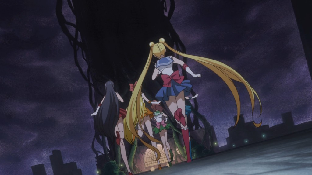 Sailor Moon Crystal Act 34 - Building covered in vines